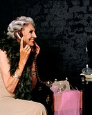 Senior woman on the telephone