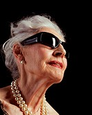 Senior woman in sunglasses