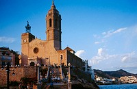 Sant Bertomeu and Santa Tecla church. (XVIIIth century). Sitges. Garraf. Barcelona province. Catalunya. Spain.