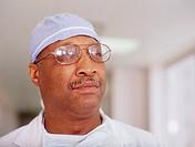 Male surgeon posing