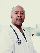 Male doctor posing