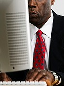 Businessman using computer