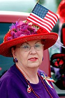Members of the all woman Red Hat Society, World Wide group membership