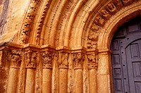 Romanesque gate. Escalada church. Burgos. Spain