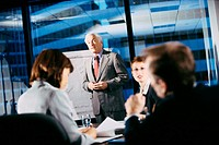 Businessman giving a presentation in a meeting