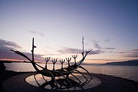 Viking ship sculpture, Reykjavik. Iceland