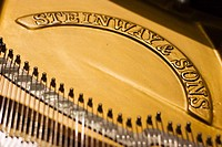 Internal view of a piano Steinway & Sons