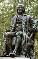 Statue of Benjamin Franklin at the University of Pennsylvania, Philadelphia. Pennsylvania, USA