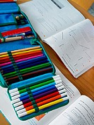 School books and pencil case (thumbnail)