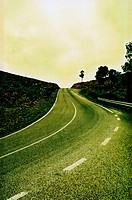 Road landscape.