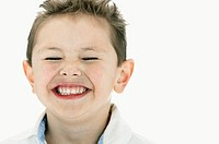 Portrait of Little Boy Laughing