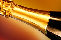 Close-up of a champagne bottle