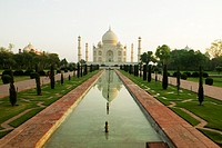 Facade of a monument, Taj Mahal, Agra, Uttar Pradesh, India
