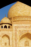 Monument seen through an arch, Taj Mahal, Agra, Uttar Pradesh, India