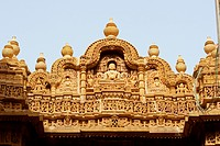 High section view of a temple, Jaisalmer, Rajasthan, India