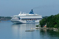 Silja Line's ferry Silja Europa in Stockholm archipelago. Sweden