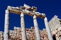 Roman Temple Ruins in Baalbek, Lebanon