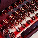 Detail of a Typewriter Keyboard