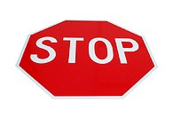 Stop sign, planar view