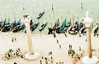Gondola Pier In Venice
