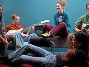 Teenagers Hanging Out, Playing Music