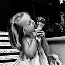 Girl Eating an Ice-Cream Cone