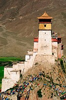 Yumbulagang, a once fortress, looks out over the Yarlung Valley. It is reputed to be the oldest building in Tibet.