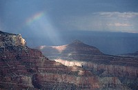 Rainbow in the Grand Canyon