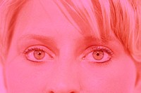 Woman´s eyes in pink