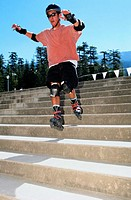 Skater Jumping Stairs