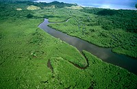 Prison area of Coiba island. Panama