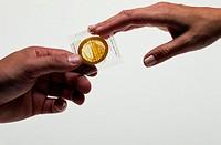 Handing a Condom