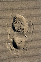 Hiker´s Footprint in the Sand