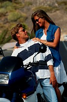 Couple on motorbike