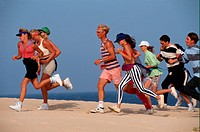Group of people jogging