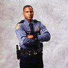 Police officer, (Portrait)