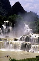 asia, china, guang xi, detian falls