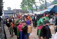 asia, vietnam, ha giang province, dong van market, h´mong ethnic minority