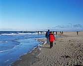 beach, seashore, walk, walking, person, winter, coast, sea, Baltic Sea coast, Rostock_Warnemunde, seaside, Resort, Bal