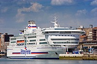 Brittany Ferries at port, Santander. Cantabria, Spain