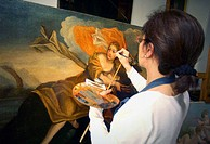 Renaissance painting restoration. Italy