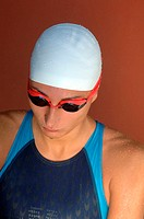 Female Swimmer Sitting