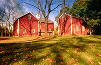 Red barns. Bucks County, Pennsylvania, USA