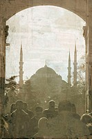 The Sultan Ahmet Mosque, Istanbul. Photograph by Mette Perregaard from ´Sun Pictures - a photographic journey from Rome to Constantinople´ (2005).