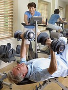 Mature couple working out (thumbnail)