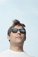 Man wearing sunglasses