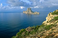 Es Vedr&#224; and Es Vedranell islands. Ibiza, Balearic Islands. Spain