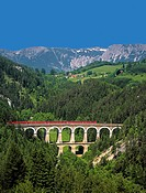 Semmering railway, between Gloggnitz (province Lower Austria) and Mürzzuschlag (province Styria) 41 km long, 1848-1854