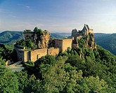 Ruin Aggstein in the Wachau, about the Danube River, Lower Austria