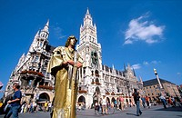 Germany, Bavaria, Munich. City Hall at Marienplatz